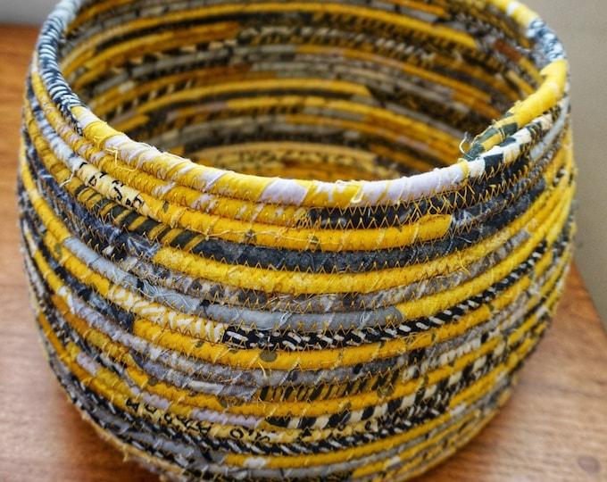 Extra Large Yellow, Black, White and Grey Basket