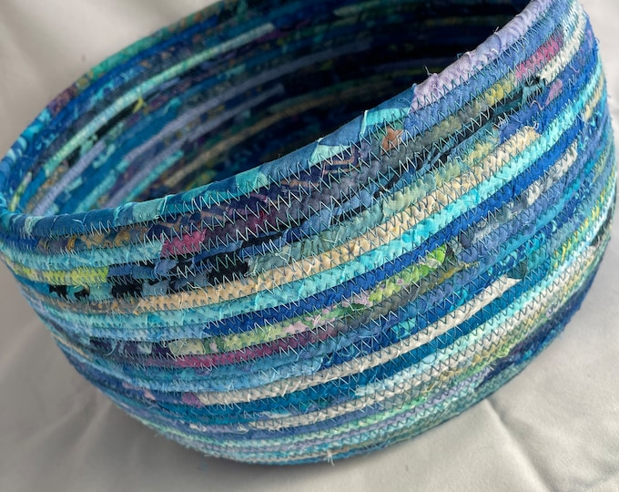 Fabric Basket in Shades of Blue