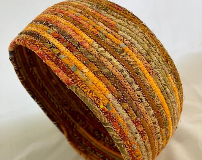 Shades of Orange Handmade Fabric Basket