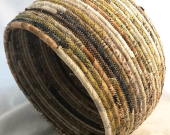 Extra Large Earth Tone Fabric Basket
