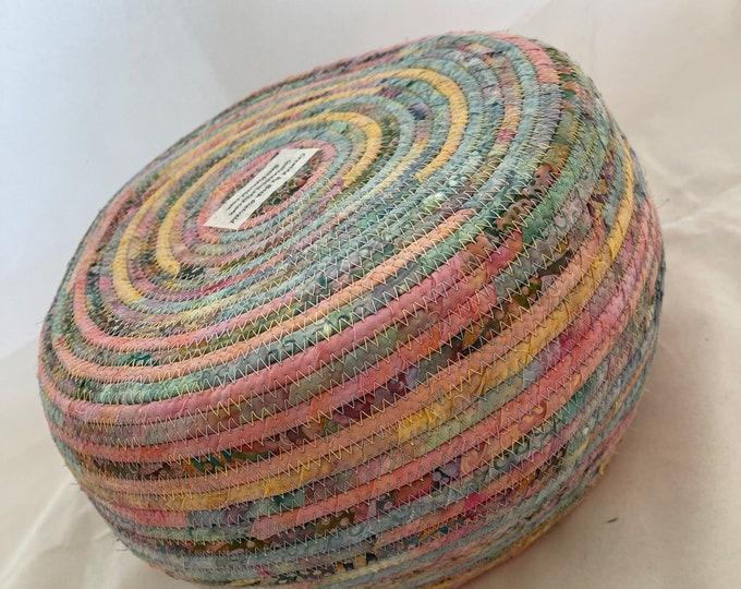 Soft Pastel Fabric Basket
