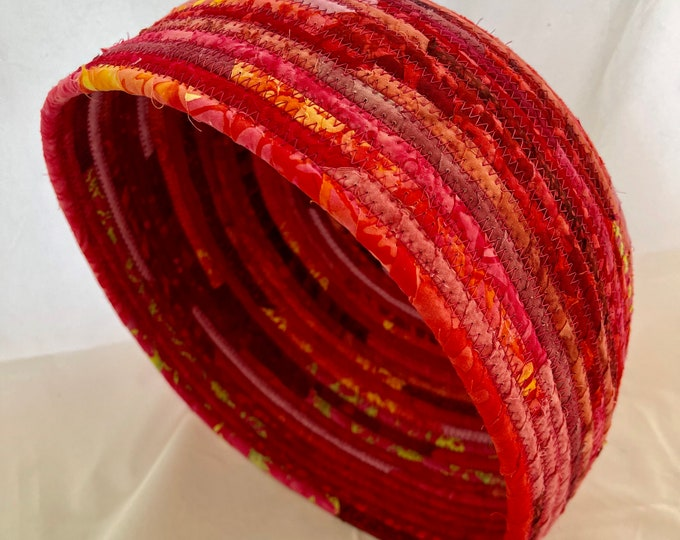 Shades of Red Large Fabric Basket
