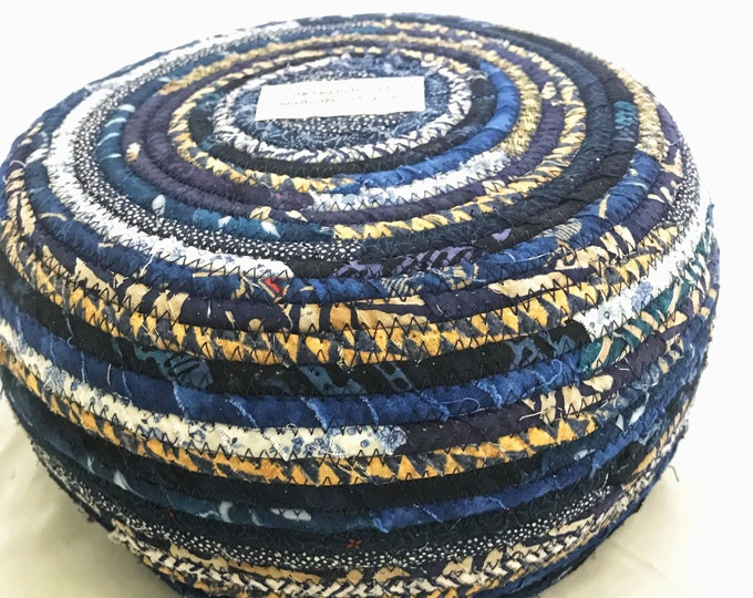 Navy Blue Fabric Basket