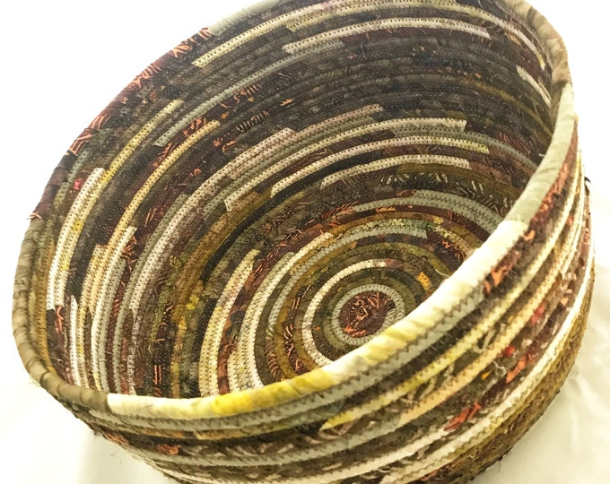 Huge Earth-tone Fabric Basket
