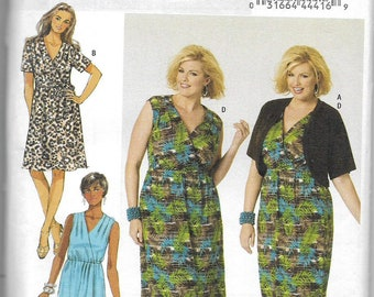 Butterick Sewing Pattern 5001 Misses Womens Dress Size 18W-24W