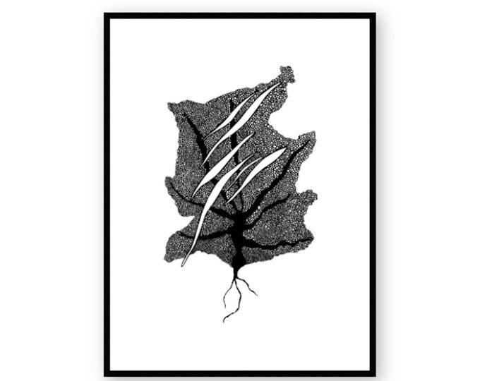 Ocean Leaf Print