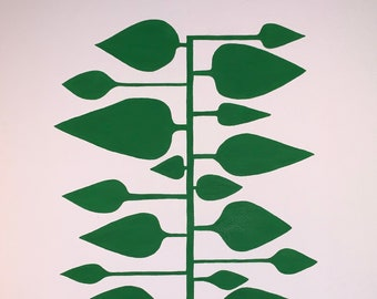 Linear Leaf Print