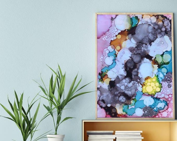 Inky Bubbles Print