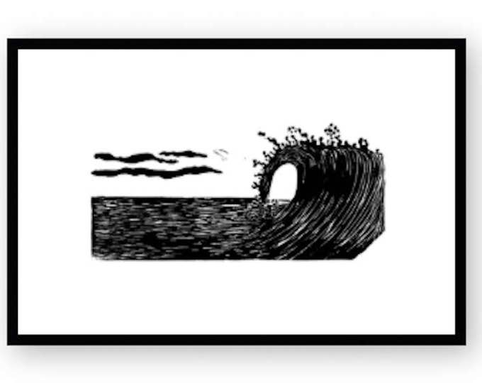 Surf's Up Relief Print
