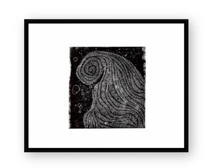 Waves Relief Print