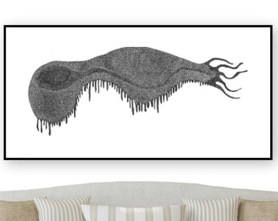 Abstract Root Print