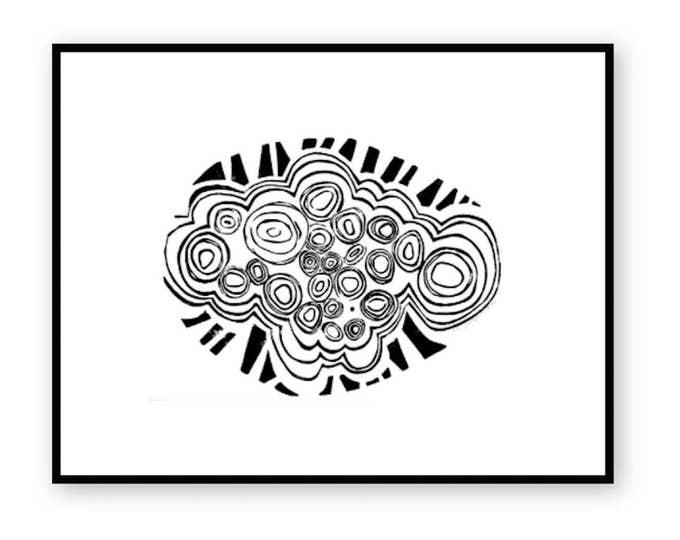 Mcintosh Roses Relief Print