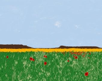 Field of Poppies Print