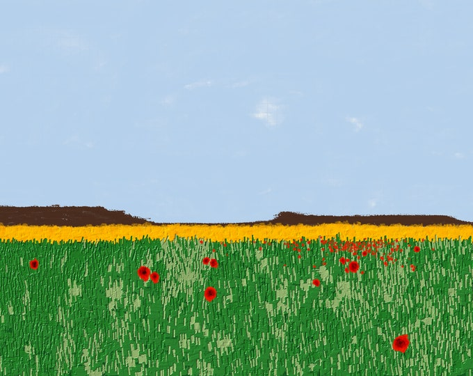 Field of Poppies Print