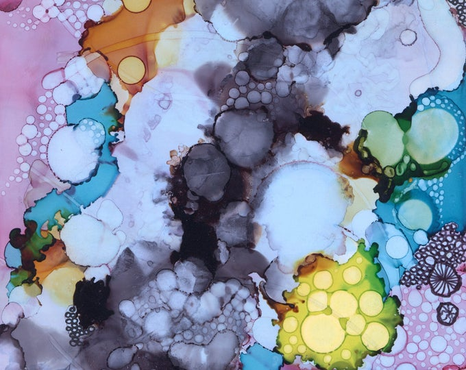 Inky Bubbles Print