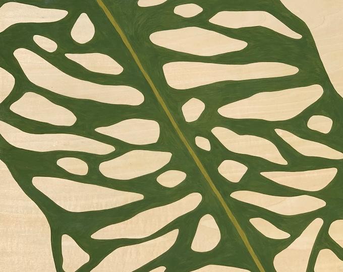 Featured listing image: Leaf Series: Opliqua Leaf on Wood Panel