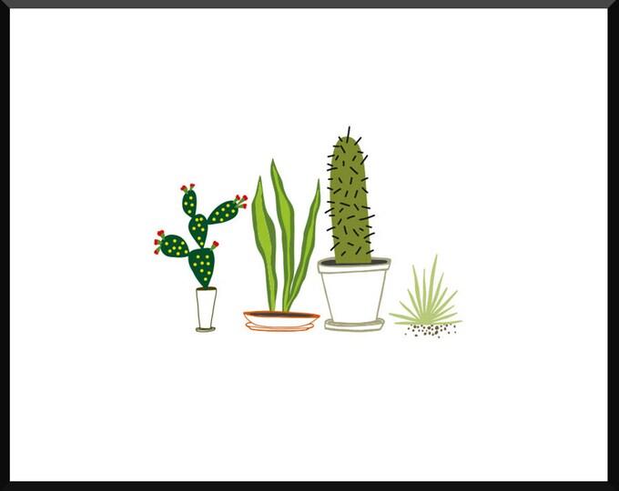 Cactus Trio Print