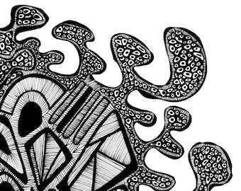 Tribal Sediment Print