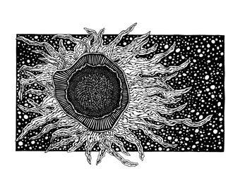 Space Flower Print