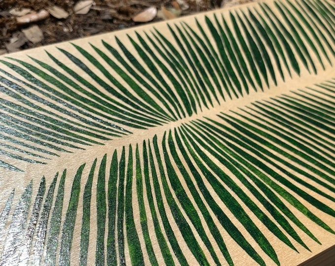 Featured listing image: Symmetrical Tiny Palm Leaves Painting