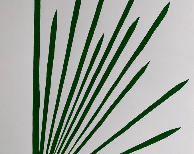 Angular Leaves Painting