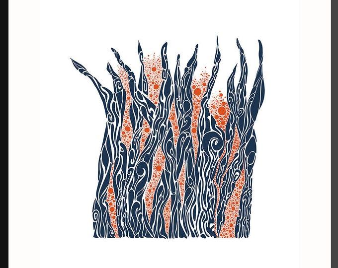 Flowing Leaves Print