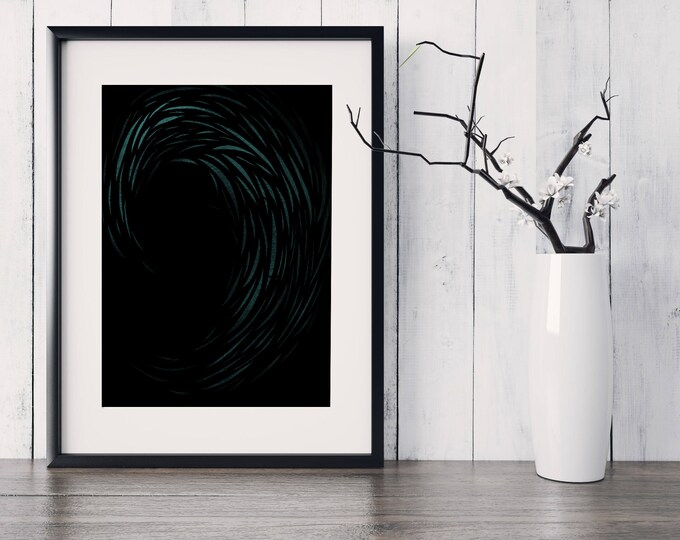 Night Wave Print
