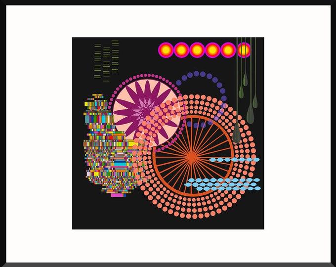 Neon Patternity Print