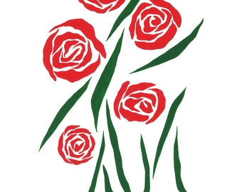 Deconstructed Roses print