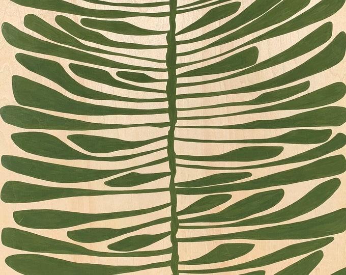 Featured listing image: Leaf Series: Pine Leaf on Wood Panel