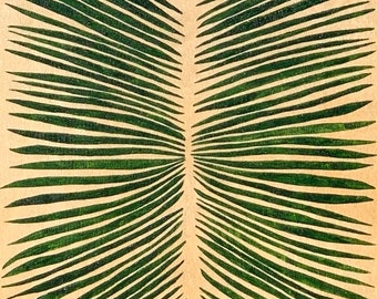 Symmetrical Tiny Palm Leaves Painting