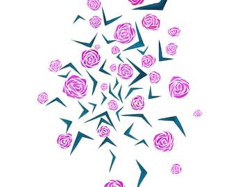 Swirling Petals print