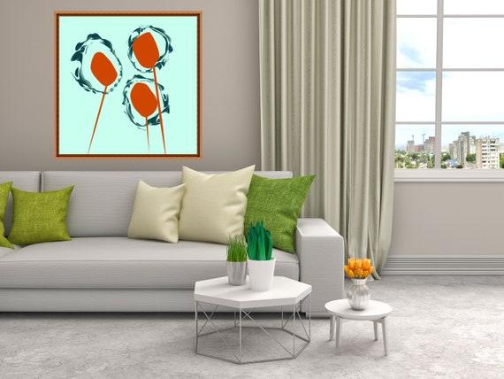 Space Flowers Print