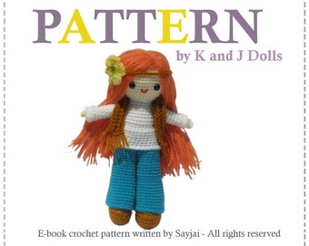 ENGLISH Instructions - Instant Download PDF Crochet Pattern Daisy