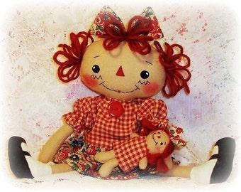 Sewing Craft PATTERN Cloth Rag Doll Primitive Prim CHARLOTTE