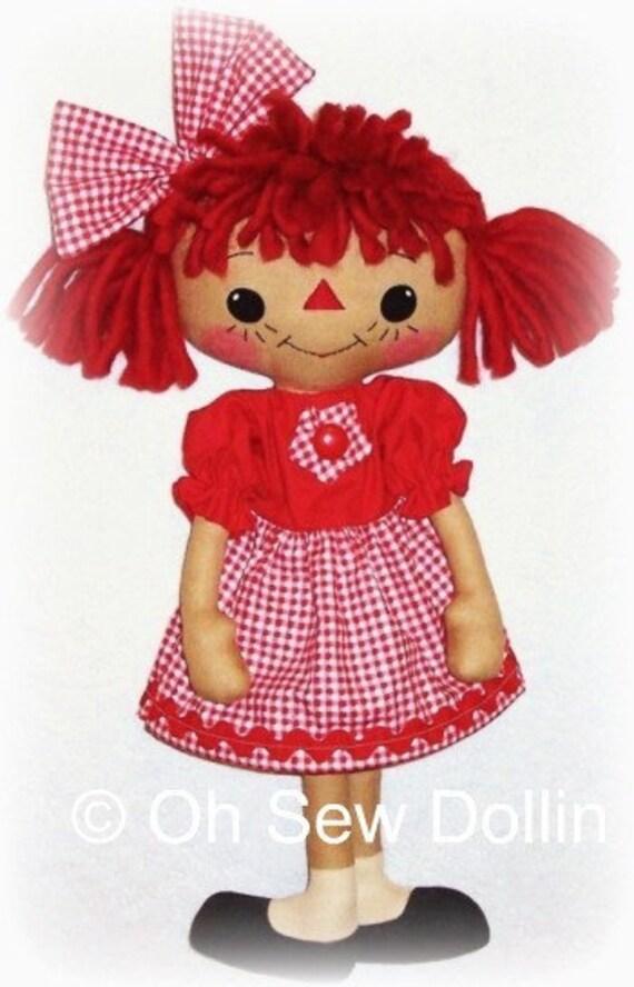 Primitive Doll Pattern PDF sewing pattern Raggedy Ann