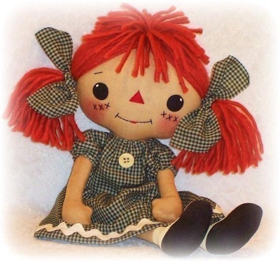 Cloth Doll PATTERN, PDF pattern, Rag Doll Sewing Pattern, primitive ...