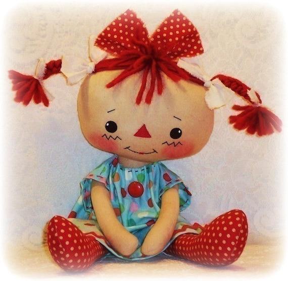 Rag Doll Muster PDF-Muster Nähen Stoff Puppe Muster
