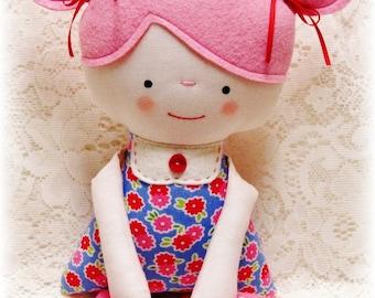 Soft Rag Doll PATTERN, PDF pattern, e pattern, Plush, Softie, Toy, Boy and Girl, Cloth Doll Pattern, Instant Download, Digital Download