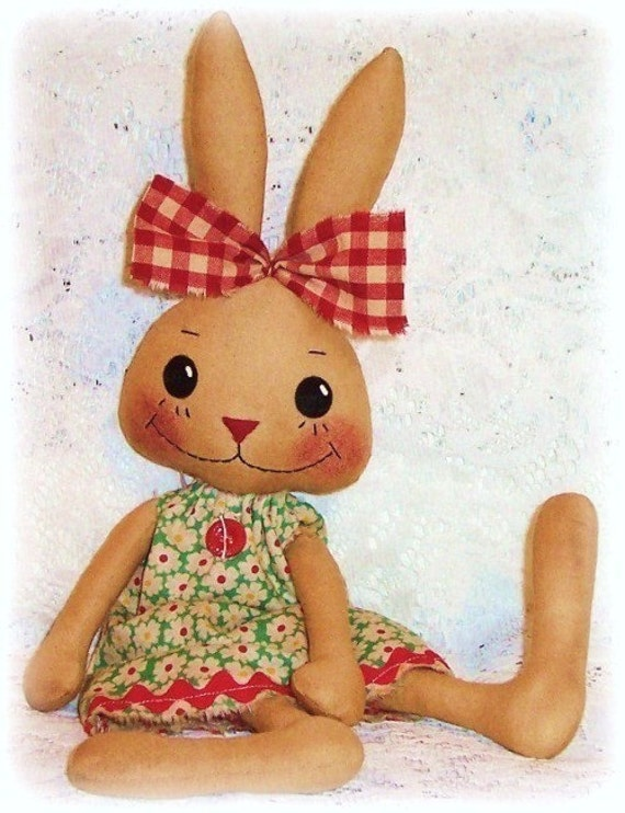 Hase Kaninchen Muster PDF-Muster Schnittmuster Primitive | Etsy