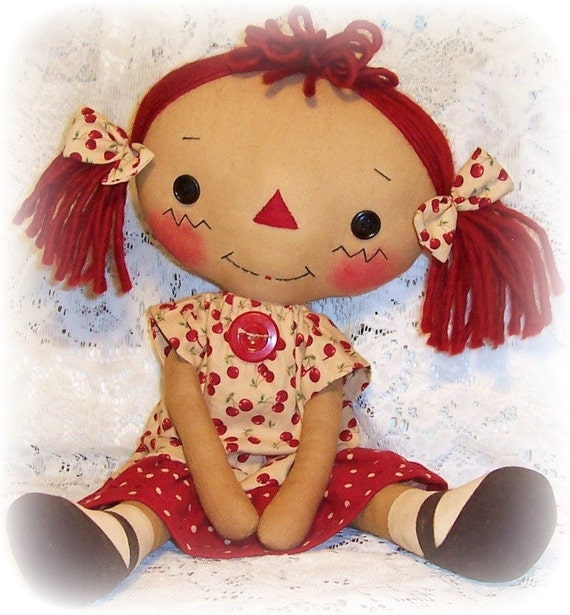 Primitive Puppe Muster Raggedy Ann Muster Stoff Puppe Rag