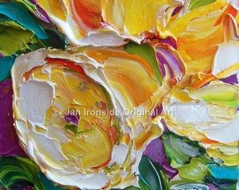 Original painting , daffodil Painting, original artwork, small painting