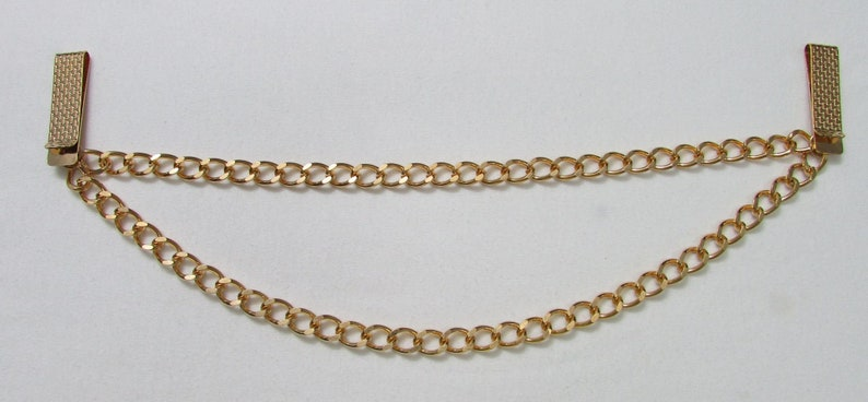NOS Enhancer Belt Gold Tone Double Layers Chain Links Belt Enhancer Use On Almost Any Belt Or Waistband