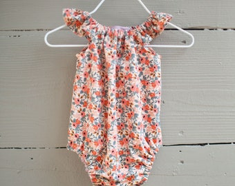 Baby Romper / Toddler Romper / Floral Romper / Girls Romper