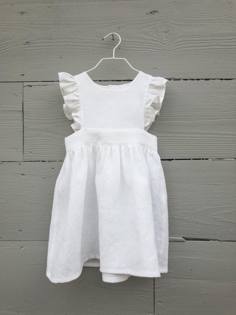 e25afb775 Girls Pinafore Dress   Toddler Pinafore Dress   Linen Pinafore