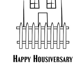 Happy housiversary etsy happy housiversary cards realtors 1 year house anniversary cards 20 pack with envelopes picket fence m4hsunfo