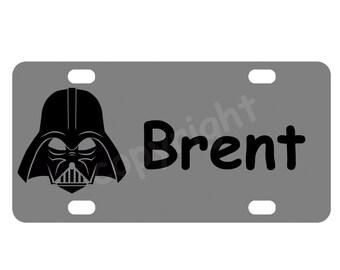 Kid's Darth Vader Star Wars Mini License Plate-Bike Plate-Kid's Door Sign