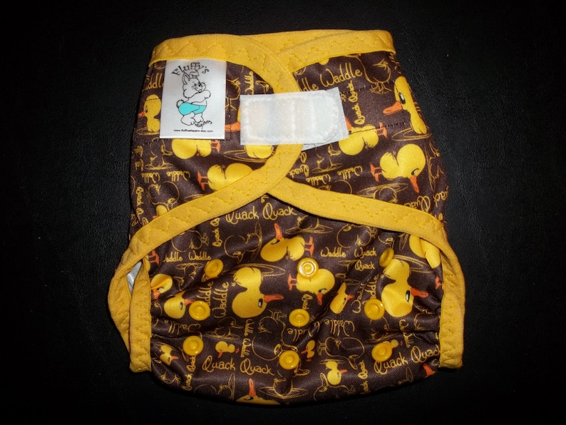 Medium Large Small or One Size Waddle Waddle Ducky PUL Cloth Diaper Cover With Aplix Hook /& Loop Or Snaps Pick Size XSNewborn