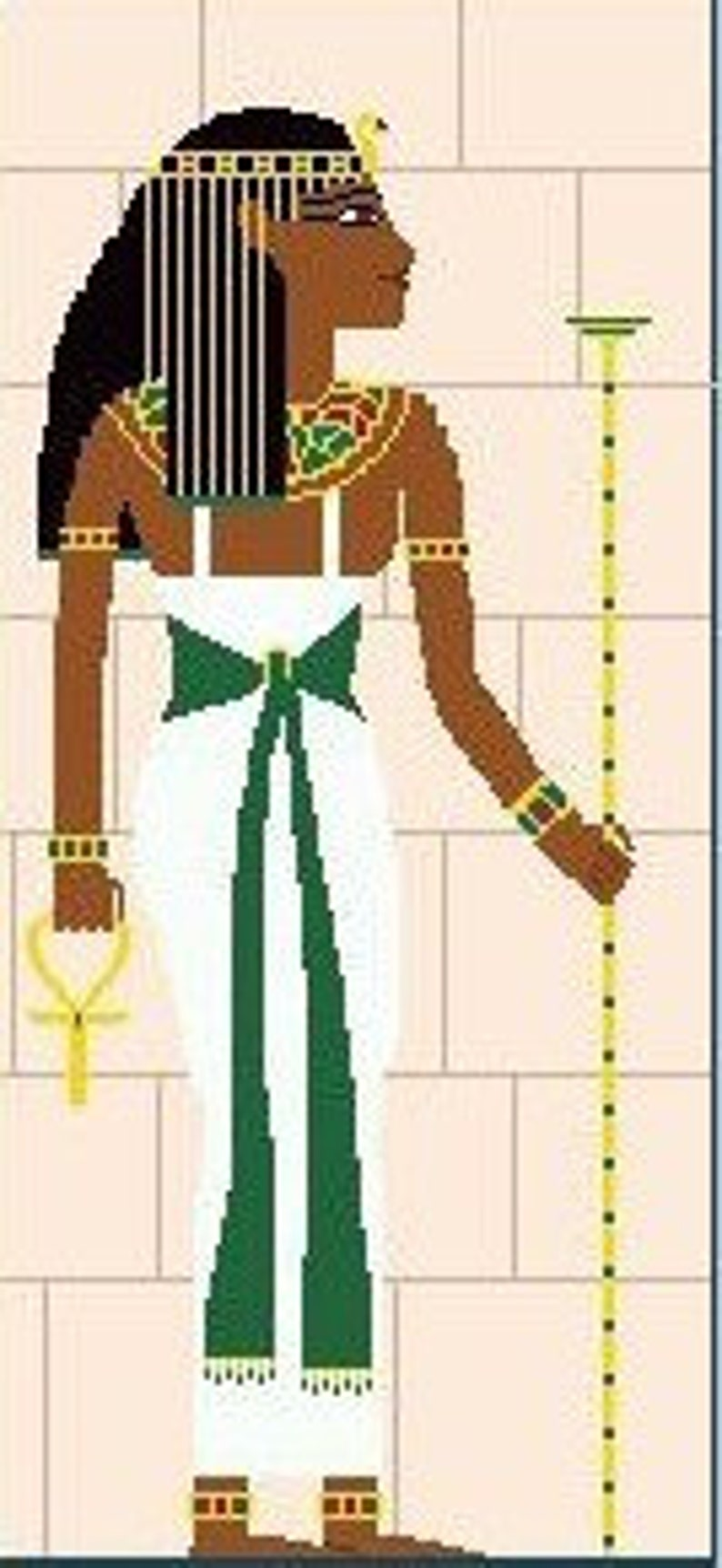 Needlepoint or Cross Stitch Pattern Design Chart  Egyptian image 0
