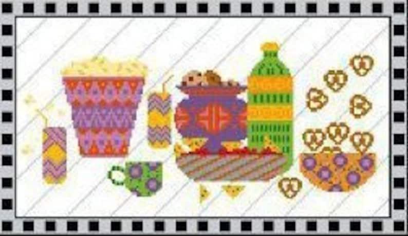 Comfort Food  Needlepoint or Cross Stitch Design image 0